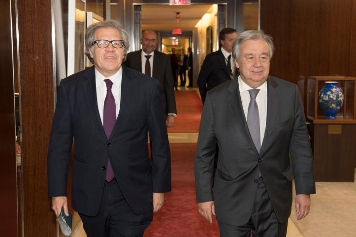 Secretary General meets with Secretary-General, ORGANIZATION OF AMERICAN STATES