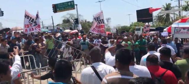 cnte enfrentamiento oaxaca mex