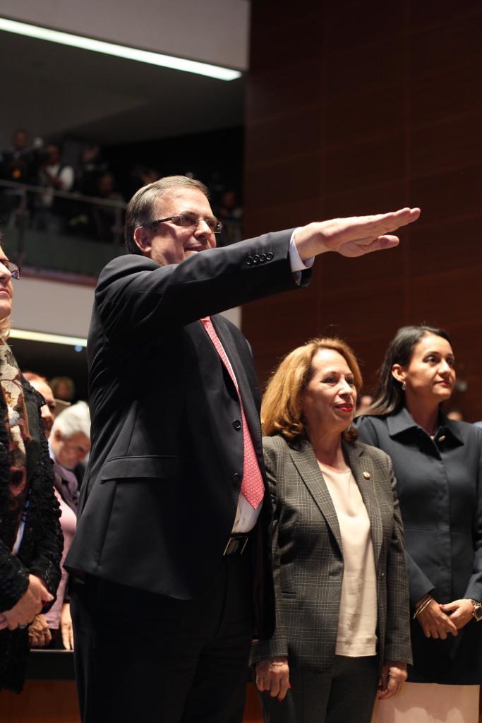 FOTO 2 El Senado de la República ratifica el nombramiento de Marcelo Ebrard Casaubón como Secretario de Relaciones Exteriores