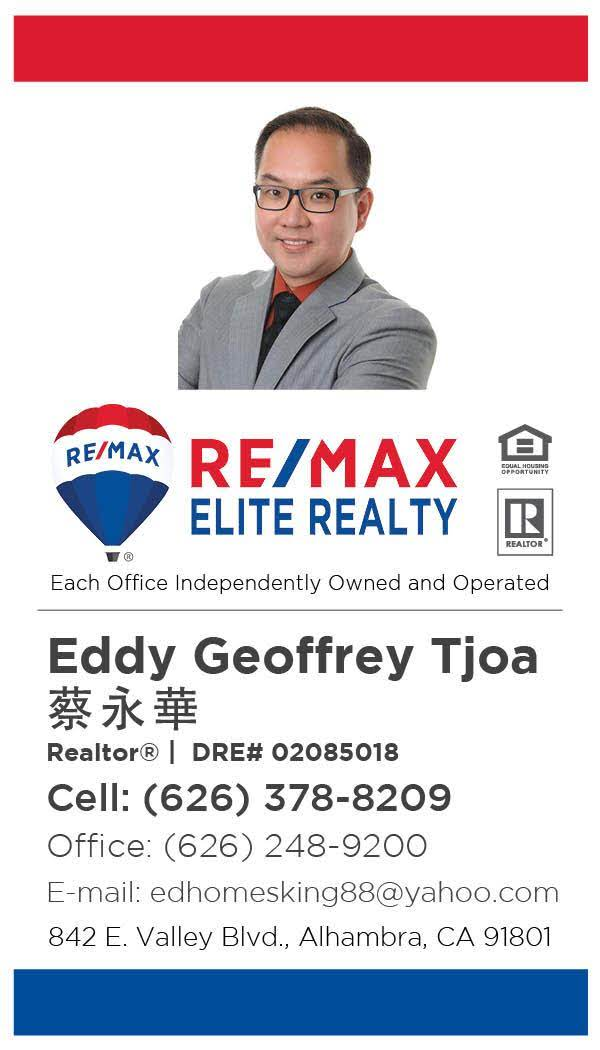 Eddy Geoffrey Tjoa Elite Realty Experience Los Angeles Edhomesking88@yahoo.com