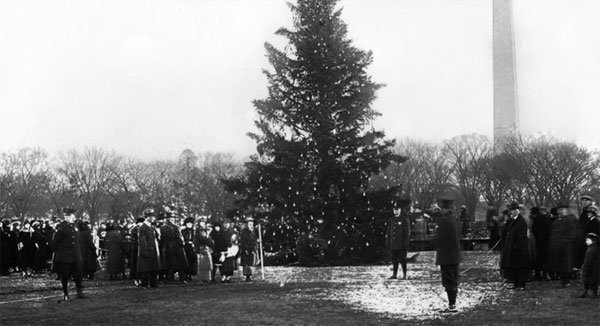 President Benjamin Harrison placed the first Christmas tree in the White House.jpg
